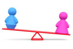 社内アンケートの結果に見る冷え性の男女比